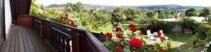 Ausblick vom Balkon in die Natur von Thüringen