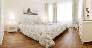 Schlafzimmer im Ferienhaus von Gabi Moritz in Thüringen