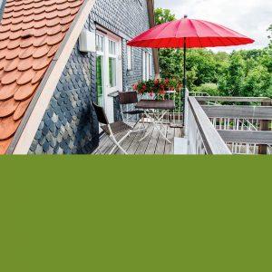 Terrasse der Ferienwohnung in Suhl von Gabi Moritz