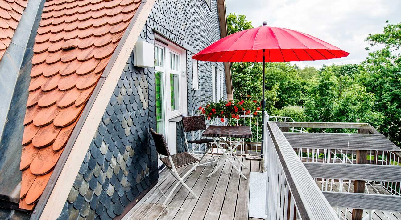 Terasse der Ferienwohnung in Thüringen von Gabi Moritz