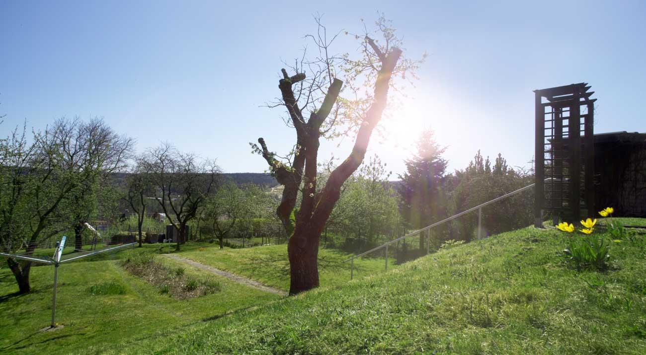 Garten vom Ferienhaus Schöne Aussicht Gabi Moritz in Thüringen