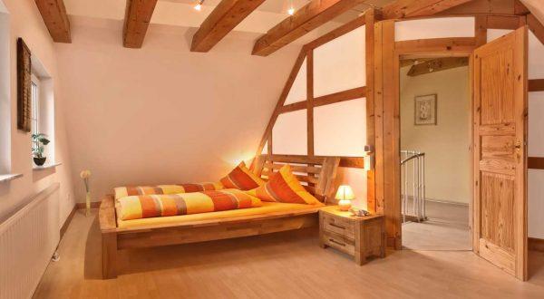 Schlafzimmer Ferienhaus von Gabi Moritz in Thüringen