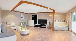 Wohnzimmer im Ferienhaus Schöne Aussicht von Gabi Moritz in Thüringen