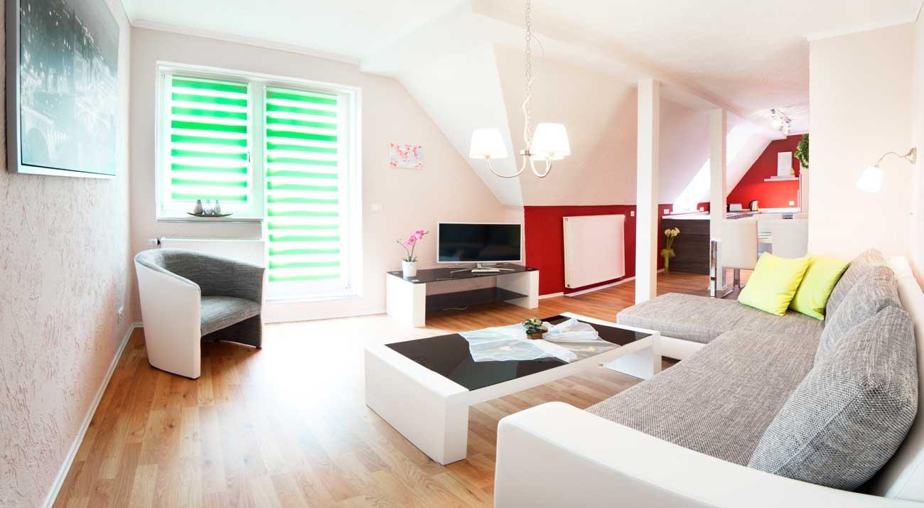 Wohnzimmer in der Ferienwohnung von Gabi Moritz