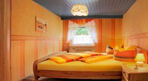 Schlafzimmer Ferienwohnung Gabi Moritz Thüringen