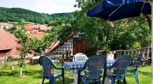 Sitzecke im Ferienhaus in Thüringen von Gabi Moritz