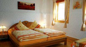 Schlafzimmer im Ferienhaus Moritz in Oberweid, Thüringen