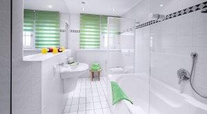 Badezimmer in der Ferienwohnung Suhler Loft im Thüringer Wald