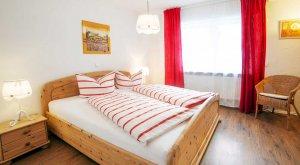 Schlafzimmer in der Ferienwohnung im Thüringer Wald