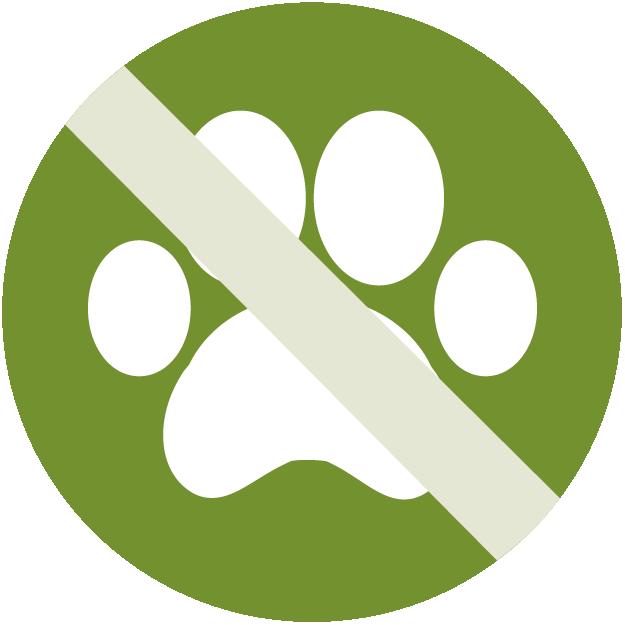 Symbol keine Haustiere erlaubt