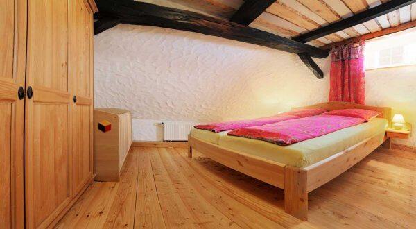 Schlafzimmer im Dachgeschoss Ferienhaus Moritz