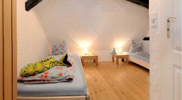 Schlafzimmer im Ferienhaus Hohe Rhön Gabi Moritz