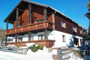 Ferienhaus in Thüringen im Winter
